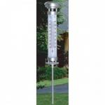 Solar Gartenthermometer beleuchtet Außenthermometer Solarlampe Solarthermometer