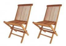 Doppelpack Teak Modena Klappstuhl Holz Gartenstühle Terrassenstuhl klappbar neu