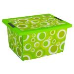 Motiv Deckelbox Grün Aufbewahrungsbox Regalkorb Aufbewahrungskiste Kiste Lager