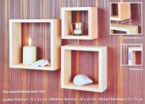 Wandregal Oslo 3er-Set Wandrahmen Dekoration-Rahmen Dekorahmen Wanddekoration