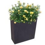 Pflanzkasten anthrazit 59, 5x26, 5cm Blumenkasten Hochbeet Terrasse Sichtschutz