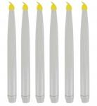 6er-Set LED Tafelkerzen 28cm Flackerlicht Spitzkerzen Stabkerzen Kerzen Licht