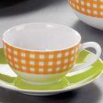 Flirt KAFFEE Kaffeeobere 58315 Obere Karo Orange