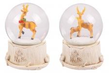 Schneekugel mit Weihnachtsmusik Spieluhr Weihnachtsdeko Winterdeko Hirsche