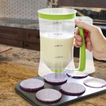 Teigportionierer Teigspender Dosierer Messbecher Muffin Cupcake Pfannkuchen 0, 9l