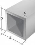 GAH Alberts VIERKANTROHR 474522 Alu Silberf. 2m/15x1, 0