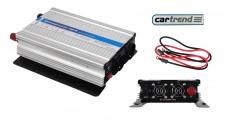 Cartrend 1000W Spannungs-Wandler 12V zu 230V Stromwandler Wechselrichter USB