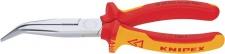 Knipex FLACHRUNDZANGE / Storchenschnabelzange 2626 Vde Gebog 200mm