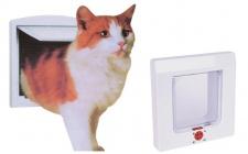 4-Wege Katzenklappe Katzentür Katze Katzen Klappe Sicherheitssperre Magnet neu