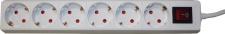 Brema TISCHSTECKDOSE Steckdosenleiste 103136 6fach M.sch.ws103136