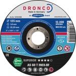 DRONCO TRENNSCHEIBE Spezialtrennscheiben für Metall 1111240 115x1, 0 Inox