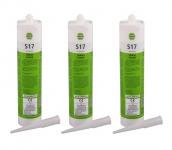 3x Reca Silikon Acetat S17 transparent 310ml Sanitärsilikon Nasszelle Kartusche