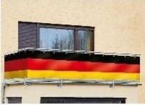 Deutschlandfahne 5 Meter Fussball Weltmeisterschaft WM Balkonsichtschutz Banner