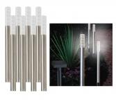 8er Set LED-Solar-Stableuchten Gartenleuchte Effekt-Dekolicht Gehwegbeleuchtung