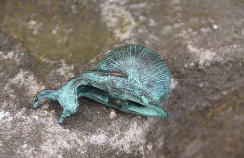 Bronze Schnecke Schnecken Tierfigur Kantenhocker Frostfest Dekoration Boan-1086 - Vorschau 3