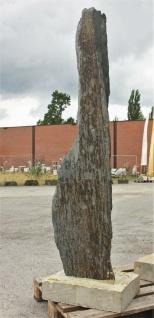 Schiefer SÄule Auf Bodenplatte, Naturstein , Neu, Frostfest Garten Ge-085105-1 - Vorschau 2