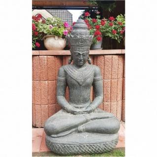 KHMER BUDDHA groß aus STEINGUSS FROSTFEST NEU für GARTEN KA-BR-BK-127-K