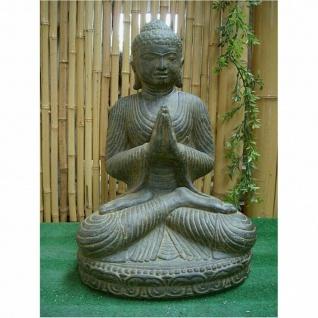 BUDDHA GREETING für den GARTEN aus STEINGUSS FROSTFEST NEU AP-SB-045A-af