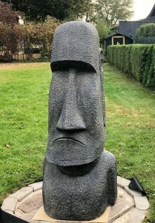 OSTERINSEL KOPF 150 cm HOCH FIGUR STEINGUSS NEU FROSTFEST GARTEN APL-Moai-150