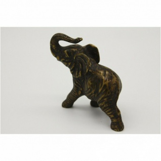 Bronzefigur Elefant Tierfigur Elefanten RÜsseltier Tier Tiere Deko Figur Mu-118 - Vorschau 2