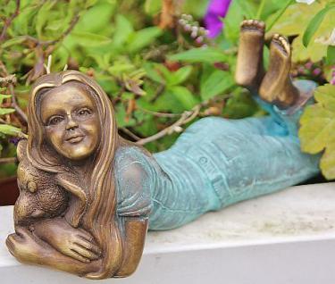 Bronzefigur Mädchen mit Elefant, Figur aus Bronze - Vorschau 2