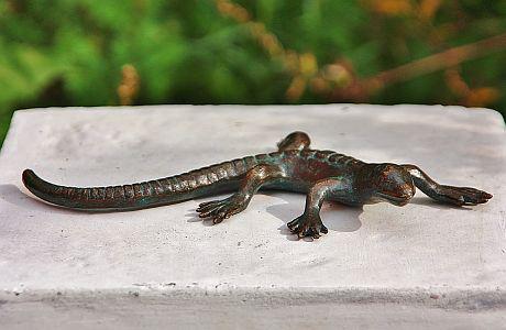 Bronzefigur Salamander, Tierfigur aus Bronze, Bronzesalamander - Vorschau 2