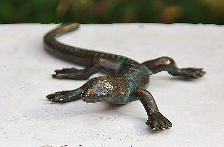Bronzefigur Salamander, Tierfigur aus Bronze, Bronzesalamander - Vorschau 3