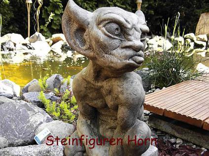 Steinfigur Gargoyle Frecher Gollum aus Steinguss