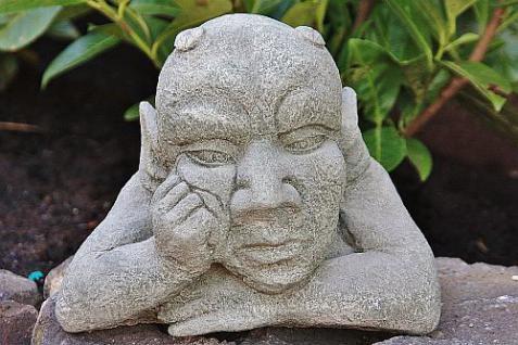 Steinfigur Kantenhocker, Gargoyle aus Steinguss