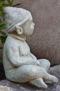 Steinfigur Wichtel Lumpi, Skulptur aus Steinguss, patiniert - Vorschau 2