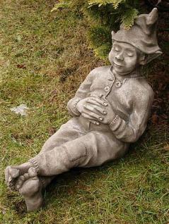 """Steinfigur Wichtel """" Done Roaming """", Figur aus Steinguss, aus der Serie Devonshire, DSL"""