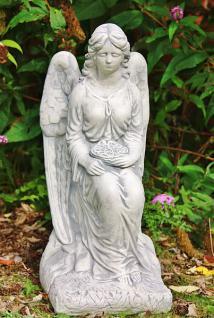 Steinfigur Engel mit Rosenkranz 59 cm wetterfest - Vorschau 1