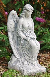 Steinfigur Engel mit Rosenkranz 59 cm wetterfest - Vorschau 2