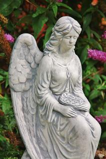 Steinfigur Engel mit Rosenkranz 59 cm wetterfest - Vorschau 3