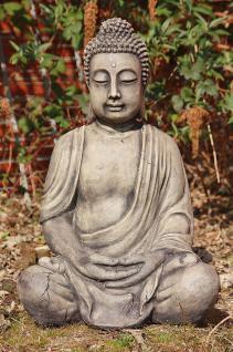 Steinfigur Buddha aus Steinguss Antik gearbeitetFROSTFEST