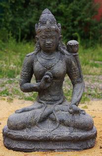 Steinfigur Shiva sitzend, Figur aus Steinguss