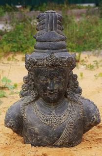 Steinfigur Shiva Büste, Figur aus Steinguss