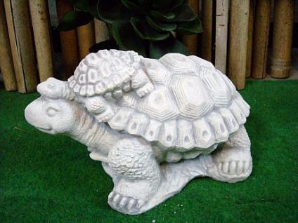 Schildkröte mit Baby für den Garten & Balkon