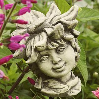 Steinfigur Blumenkind Margarite für den Garten & Balkon