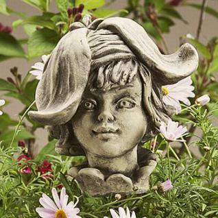 Steinfigur Blumenkind Goldlack für den Garten & Balkon
