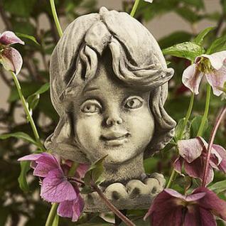 Steinfigur Blumenkind Grasnelke für den Garten & Balkon