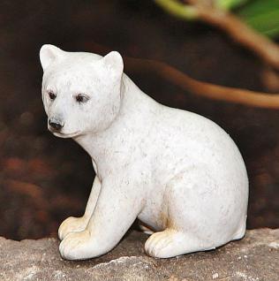 Eisbär Baby, sitzend für Garten, Wohnung & Balkon