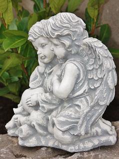 Zwei Engel , sitzend für Garten, Friedhof & Balkon - Vorschau 2