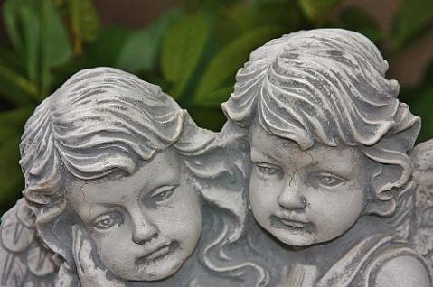 Zwei Engel , sitzend für Garten, Friedhof & Balkon - Vorschau 3