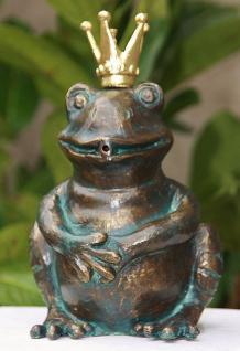 Bronzefigur Froschkönig Wasserspeier, Figur aus Bronze
