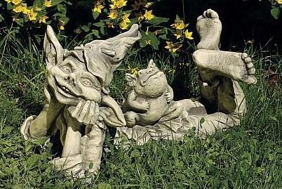 Steinfigur Elfe Holly, Figur aus Steinguss