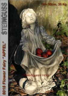 """Steinfigur Blumen Elfe """"Apfel"""" , Figur aus Steinguss"""