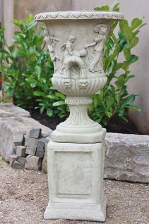 Amphore auf Sockel für Garten & Terrasse frostfest