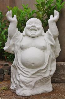 Steinfigur Buddha, stehend für Garten & Teich