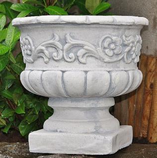 Steinfigur Amphore Sonnenblumen aus Steinguss